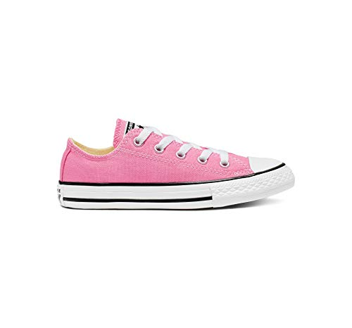 Converse unisex-child Chuck Taylor All Star Low Top Kids Sneaker, Pink, 2,Little Kid]()