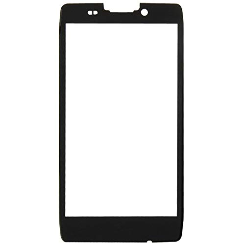 (HONGYU Smartphone Spare Parts Front Screen Outer Glass Lens for Motorola Droid RAZR HD / XT926 / XT925(Black) Repair Parts (Color : Black))