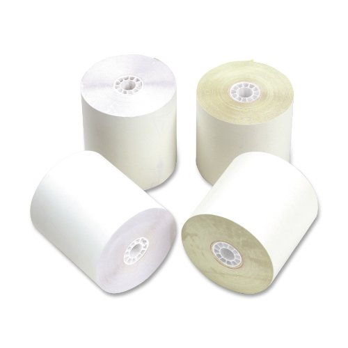 - PM Company Two Ply Self Contained Rolls for Verifone Tranas 420/460-50 Rolls/ctn, White/Canary, 2 1/4 Inches x 70 Feet (09225)