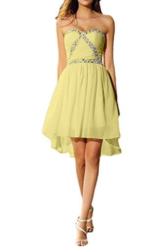 Brautjungfernkleis Ivydressing Kurz Steine Liebeling Chiffon Abendkleid Promkleid Nazisse Herzform Cocktailkleid Damen rEwrFtxq8