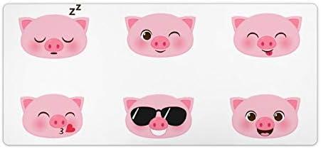 Schreibtischunterlage, freigeschaltet, rosafarbenes Schwein, Gummimatte, Schreibtischunterlage, Laptopunterlage, wasserdichte Schreibtischunterlage