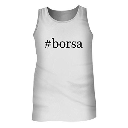 Tracy Gifts #borsa - Men's Hashtag Adult Tank Top, White, X-Large