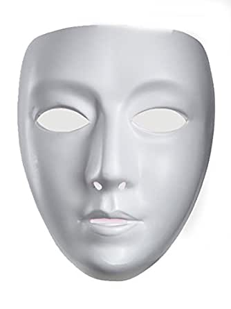 10476 (o/s) Blank Female Drama Mask