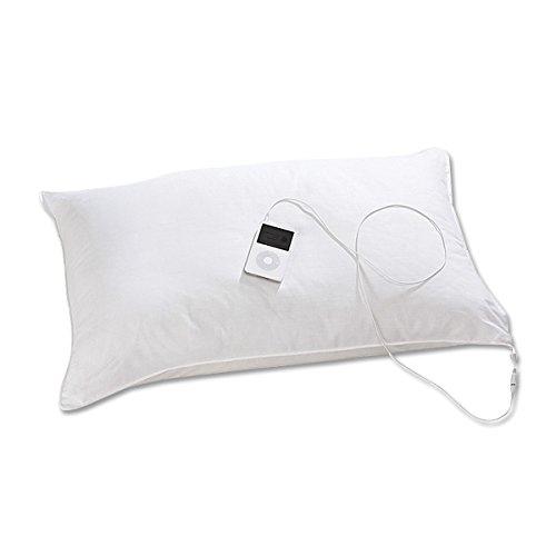 oreiller avec ecouteur integre Oreiller musical Soundasleep 60 x 30 cm,compatible avec iPod  oreiller avec ecouteur integre