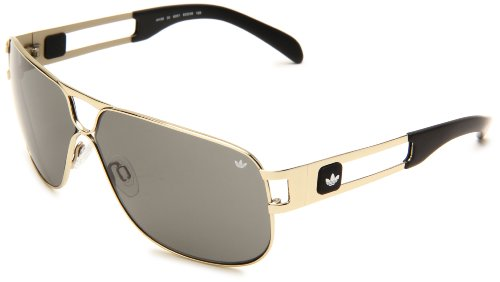 adidas Conductor Hi Ah36-6051 Aviator Sunglasses,Gold Shiny Frame/Green Lens,One - Sunglasses Ah