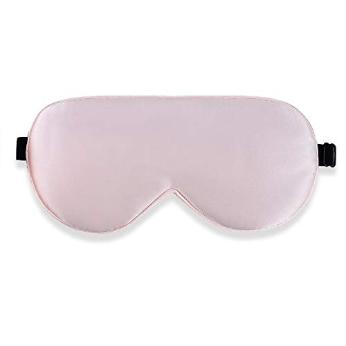 Alaska Bear Natural Silk Sleep Mask, Blindfold, Super Smooth Eye Mask (Pink)