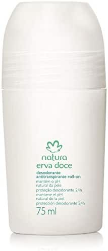 Linha Erva Doce Natura - Desodorante Antitranspirante Roll-On 75 Ml - (Natura Fennel Collection - Roll-on Antiperspirant & Deodorant 2.53 Fl Oz)