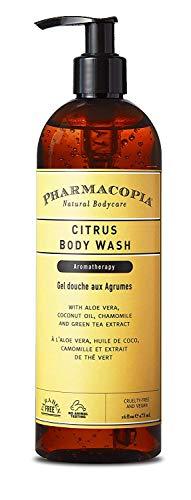 Pharmacopia Citrus Body Wash - Moisturizing Shower Gel with Natural & Organic Ingredients - Vegan Bodywash for Men & Women, 16oz