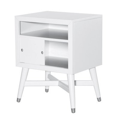 Mid-Century French White Nightstand by Dwell Studio