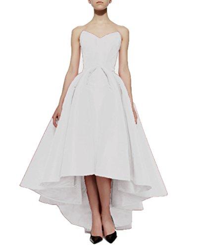 Aurora Mariée 2016 Jupe En Queue D'aronde De Satin Plissé Robes De Soirée Blanche