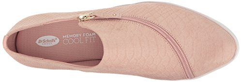 Dr. Scholls Womens Repeat Zip Fashion Sneaker Blush Microsude Snake