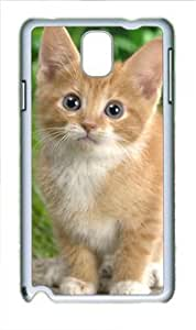 Yellow Cat Customized PC Hard Shell White Samsung Galaxy note3 N9000 Case By diycenter