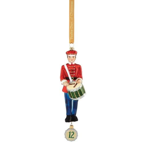 12 Day Christmas Tree Ornaments - Reed & Barton 12 Days of Christmas 12 Drummers Drumming Ornament