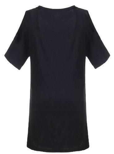 Rode T Shirt Avec Col Rond Et Manches Courtes Pour Femme Et Filles