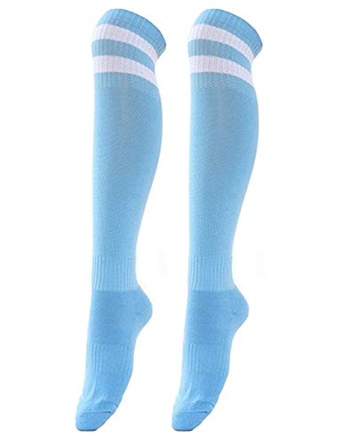 Unisex Women Classic Over Knee High Towel Bottom Striped Cool Fun Crazy Mens Athletic Soccer -