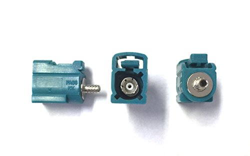 (rmsdeal77 Pack of 5 FAKRA Female Crimp Connector RG-174 Water Blue Z Coding)