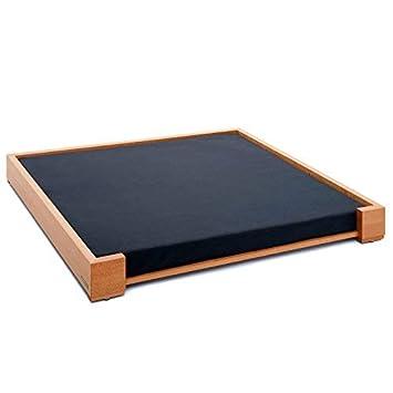 Naturehome - Diseño bio cama para perros Alpha 80 x 60 haya madera maciza Certificado Perros Colchón: Amazon.es: Productos para mascotas