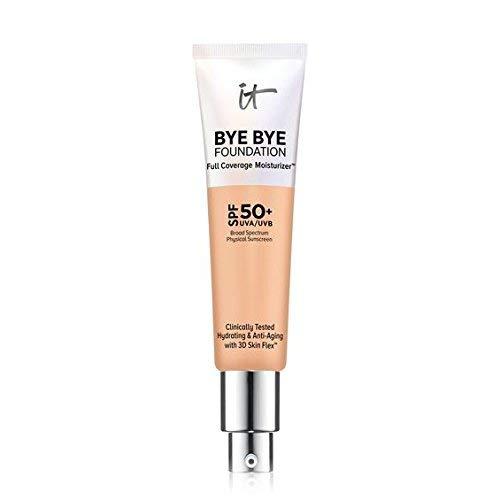 It Cosmetics Bye Bye Foundation Full Coverage Moisturizer Medium Tan SPF 50+.  1 ounce