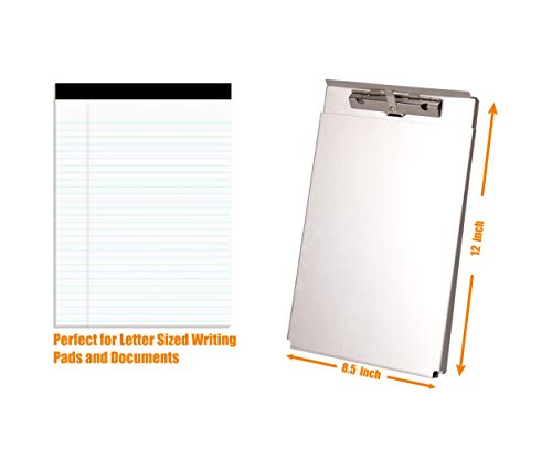 Summit Tools Dual Storage Aluminum Clipboard - 8.5 in. x 12 in. Letter Size Document Holder with Self Locking Latch, Form Clip, 2 Storage Compartment [2-Pack] by Summit Tools (Image #4)