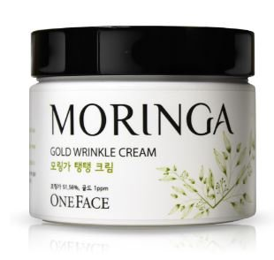 [One Face] Moringa Gold Wrinkle Cream with 51% Moringa Water & Actual 24K Gold for Professional Wrinkle Care (100ml)