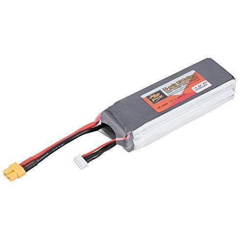 JesseBro76 ZOP Power 14.8V 4500mAh 45C 4S Rechargeable Lipo Battery XT60 for RC Drone Car Black