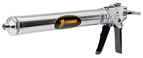 Newborn 624-GTS Bulk/Sausage Deluxe Smooth Hex Rod Caulking Gun with Comfort Grip, 24 oz. Bulk/10-20 oz. Sausage Packs, 14:1/7:1 Thrust Ratio