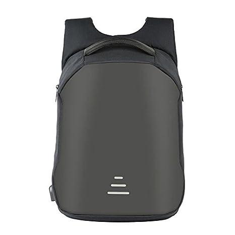 BAIBU - Mochila Impermeable antirrobo para Ordenador portátil, Puerto de Carga USB, Bolsa de