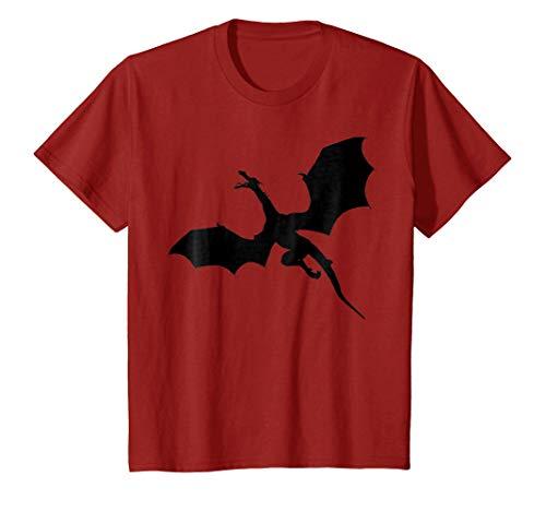 Kids Sleek Dragons Shadow Graphic Print T-Shirt 12 ()
