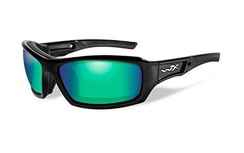 Wiley X Echo Sunglasses, Polarized Emerald Mirror, Gloss - Wholesale Sunglasses Polarized Fishing