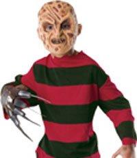 Amazoncom Childs Freddy Krueger Shirt Mask Sizelarge 12 14