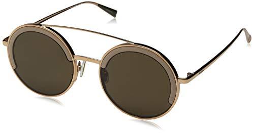 Max Mara Women's Mm Eileen I Round Sunglasses, Khaki & gold, 51 ()