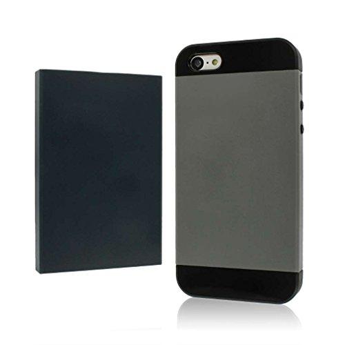 MPERO Fusion Fit Series Protective Case Étui Coque for Apple iPhone 5C - Black / Gunmetal Bleu / Dark Gray