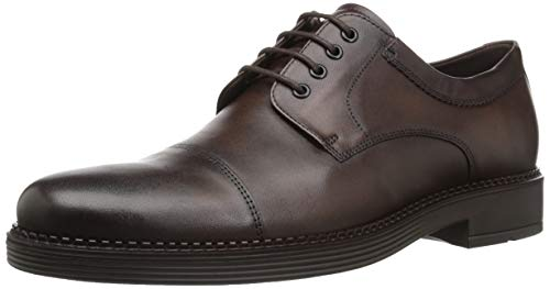 ECCO Men's Newcastle Cap Toe Tie Oxford, Cocoa Brown, 45 M EU (11-11.5 US)