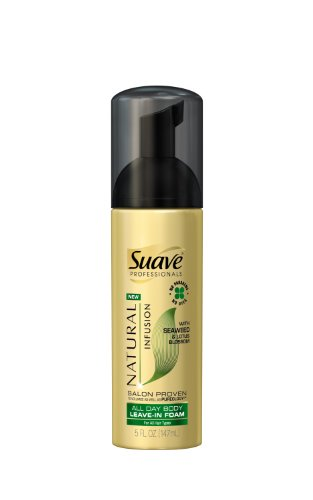 Suave Professionals All Day Body Leave-In Foam, Seaweed & Lotus Blossom 5 (Professional Seaweed)
