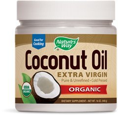 Nature's Way Organic Extra Virgin Coconut Oil- Pure, Cold-pressed, Organic, Non-GMO, Gluten-free- 16 - At Point Stores Coconut
