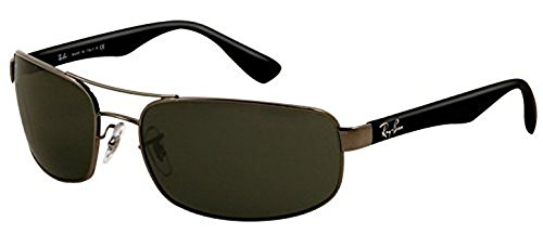 Ray-Ban RB 3445 Sunglasses Gunmetal / Crystal Green 61mm & HDO Cleaning Carekit - 3445 Rb