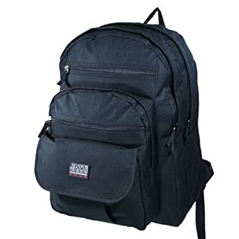 A4 and Lever Arch Large Black Rucksack Backpack Bag- Suitable ...
