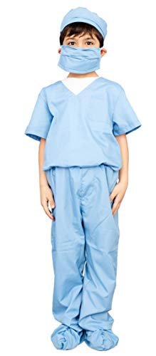 Doctor Scrubs Kids Vet Blue Halloween Costume Set (Child 8/9)]()