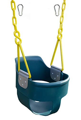 Squirrel Products High Back Full Bucket Toddler Swing 2.0 with Pinch Protection Technology & Patented Ergonomic Design