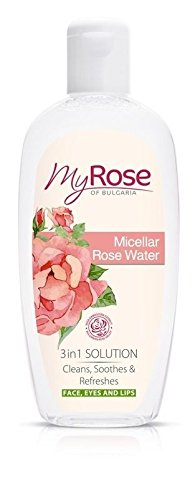 (Micellar Rose Water 3 in1 Solution - Cleans, Soothes & Refreshes your Face with Bulgarian Rosa Damascena Extract 220ml by Lavena My Rose)