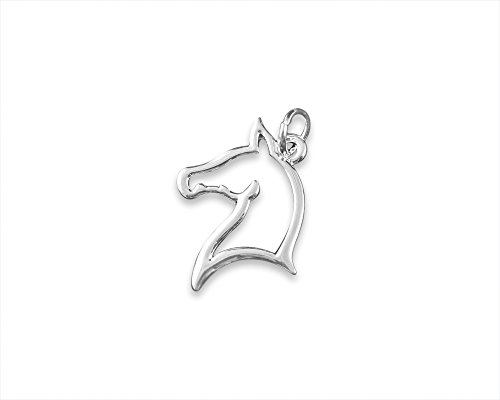 Horse Head Charms with Jump Rings (Wholesale Pack - 25 Charms)