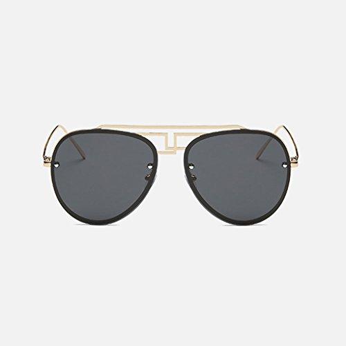 LSX LX Actividades Gradient Frame Silver conducen Que Frame de Black Color Las de Polarización Tendencias Las Las de Lens Cómodas contra Gafas Gold Lens Gray UV Sol Nuevas Gafas Grey drFrxBOqnw
