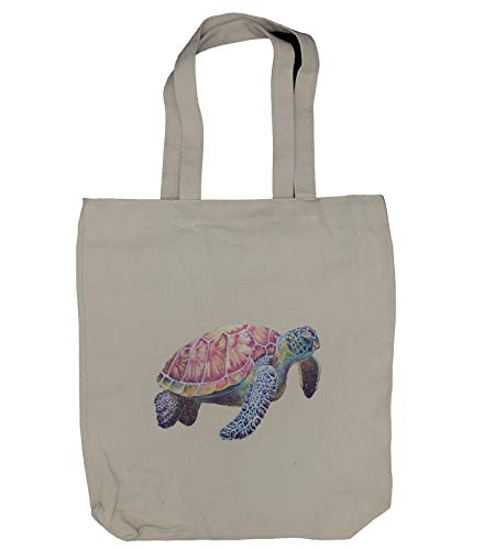 (Turtle Canvas Tote Bag, Natural Canvas Tote Bag, Cloth Shopping Bag,Handmade from 6-ounce 100% Cotton, Perfect for Shopping, Laptop, School Books)