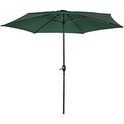 Aktive Garden 53868 - Parasol Hexagonal Diámetro 250 cm, Mástilil Aluminio 34 mm, Color Verde