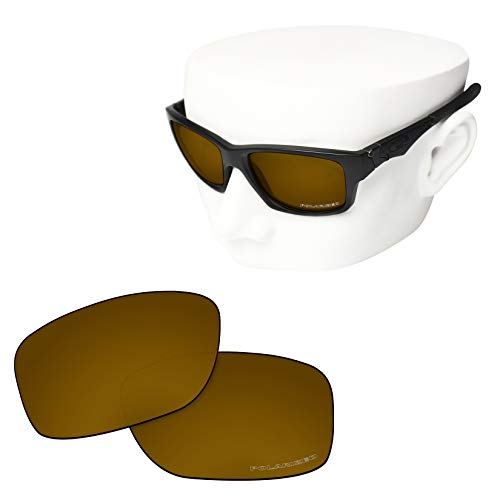 OOWLIT Replacement Lenses Compatible with Oakley Jupiter Squared Sunglass Peach Gold Combine8 Polarized