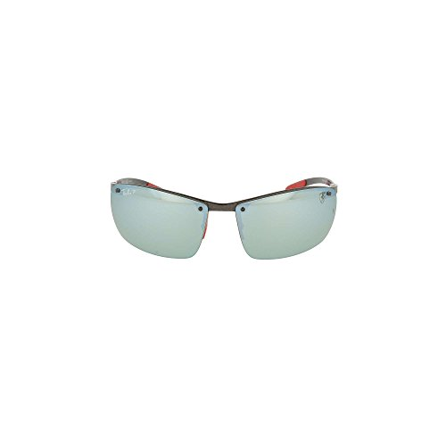 Ray-Ban Men's 0rb8305mf005h164man Polarized Iridium Square Sunglasses, Dark Carbon, 64 - Ban Ray Ferrari