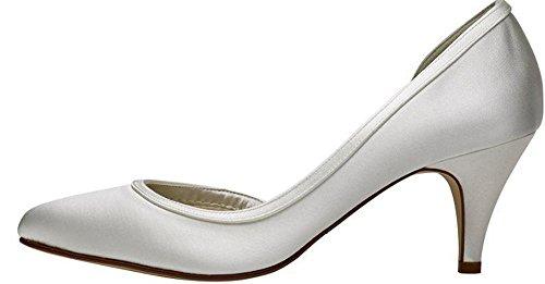 Rainbow Hochzeit Abbie Club Kolorieren Schuhe Elfenbeinfarben Satin 55rqwgZx