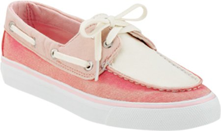 Sperry Top-sider Donna Largo Lace Up Rosa / Rosa / Tela Bianca