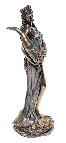 11.38 Inch Blinded Greek Goddess Fortuna Cold Cast Bronze Figurine