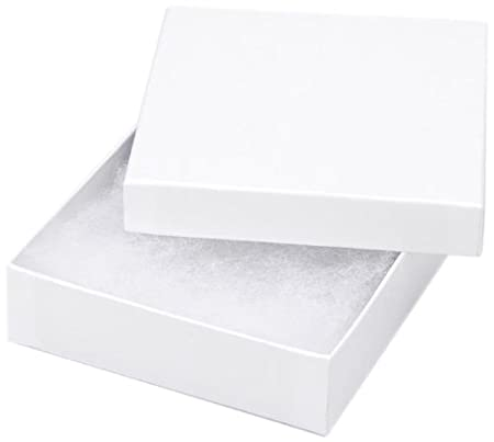 Darice 3 1/2-Inch by 7/8-Inch Jewelry Box with Filler, 6-Pack 1162-94